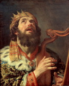 King David Playing the Harp 1622 Found in the collection of the Centraal Museum Utrecht
