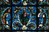 King David stained glass Chartres Cathedral France 11451155 From the Jesse Tree Window