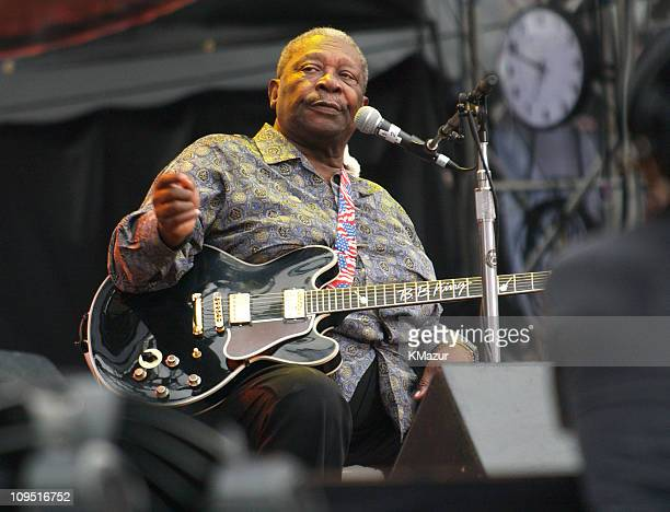 BB King during Crossroads Guitar Festival Day Three at Cotton Bowl Stadium in Dallas Texas United States