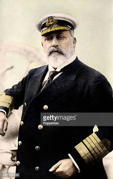 King Edward VII in the uniform of the Royal Navy circa 1905