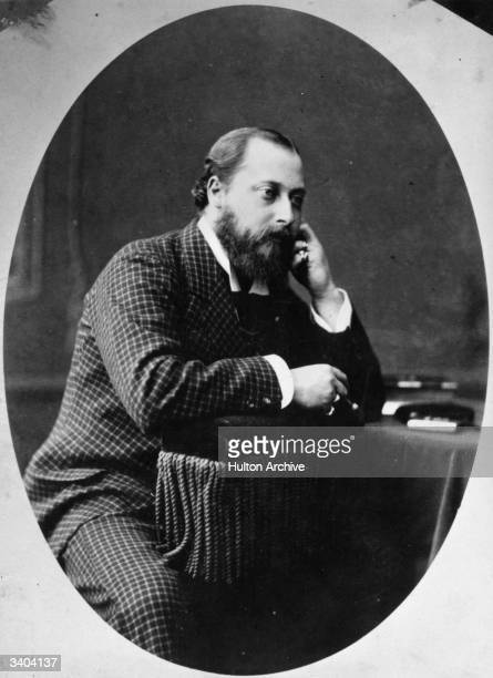 King Edward VII of Great Britain in a photograph taken when he was Prince of Wales Original Artist By Scott Smith