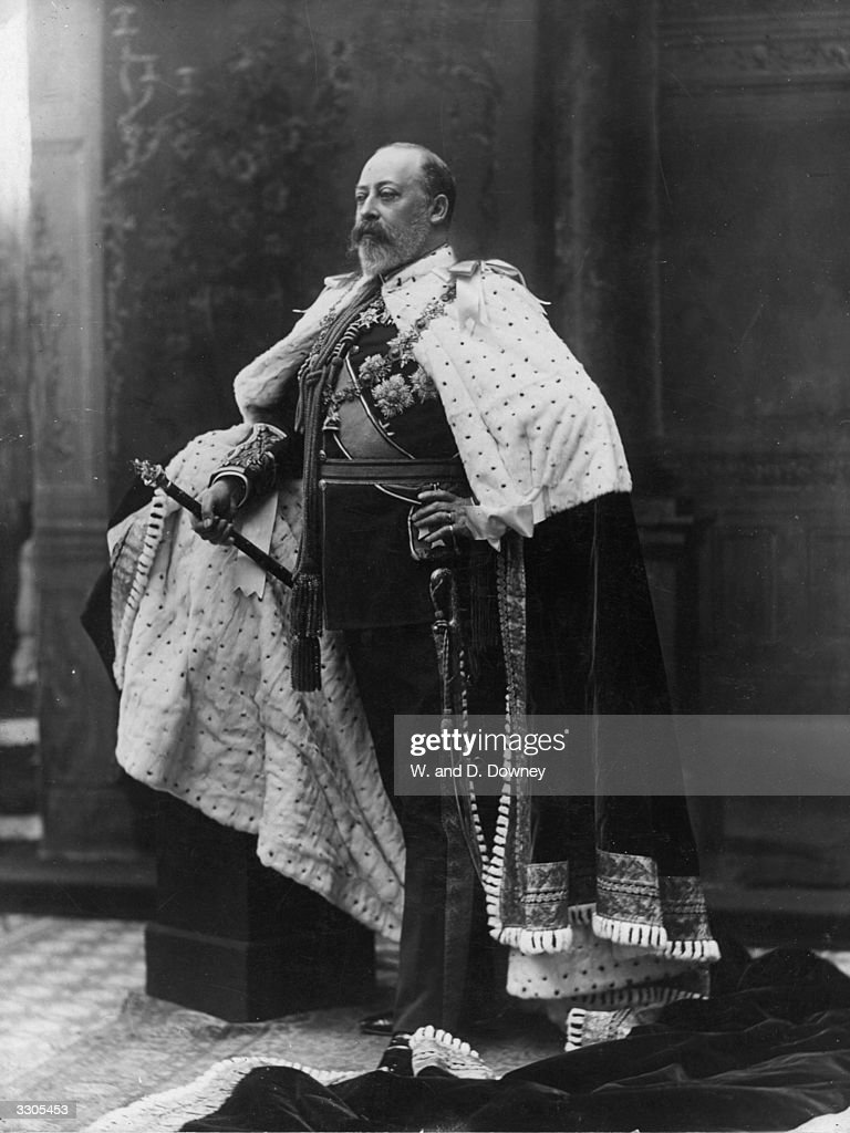 King Edward VII (1841 - 1910) on his accession to the British throne in 1901.
