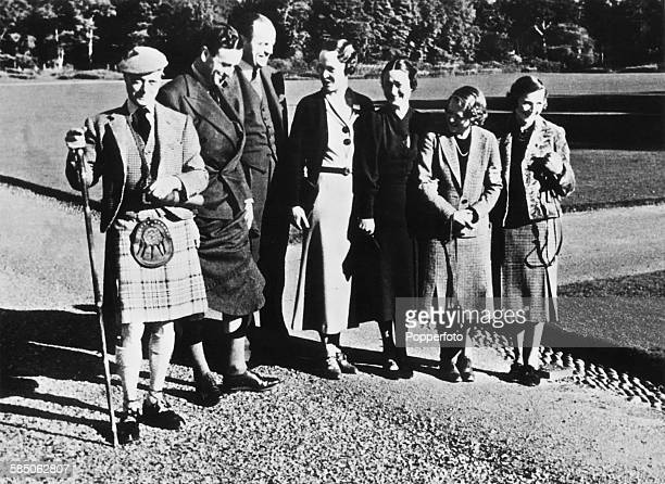 King Edward VIII and Wallis Simpson with others at Balmoral Scotland 1936