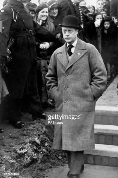 King Edward VIII during his visit to miners in Pontypool south Wales