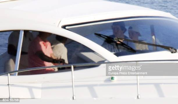 King Felipe Felipe Juan Froilan and Pablo Nicolas Urdangarin are seen on July 29 2017 in Palma de Mallorca Spain