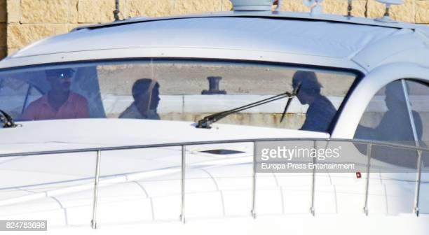 King Felipe Juan Valentin Urdangarin and Pablo Nicolas Urdangarin are seen on July 29 2017 in Palma de Mallorca Spain