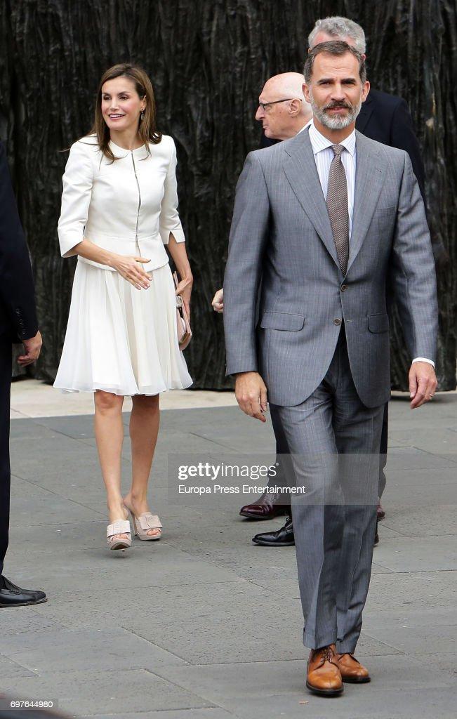 King Felipe of Spain and Queen Letizia of Spain attend 'El Arte de Educar' at El Prado Museum on June 19, 2017 in Madrid, Spain.