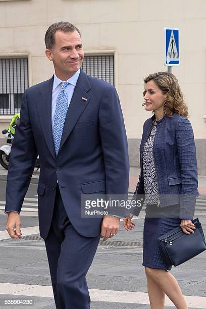 King Felipe of Spain and Queen Letizia of Spain attend the opening of the painting exhibition 'The Bosch' at El Prado Museum on May 30 2016 in Madrid...