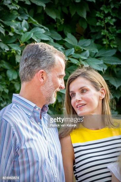 King Felipe of Spain and Queen Letizia of Spain attend the summer photocall on July 31 2017 in Palma de Mallorca Spain