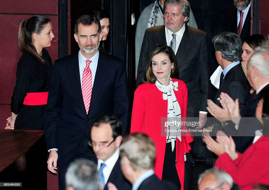 King Felipe of Spain and Queen Letizia of Spain deliver acreditations to the new Spain Brand Honorary Ambassadors at the March 14, 2017 in Madrid, Spain.