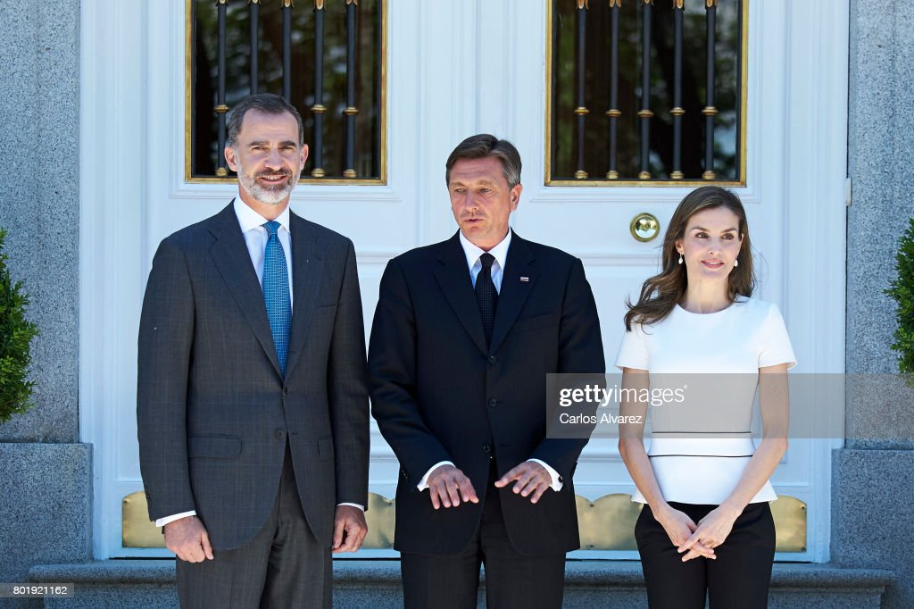 Spanish Royals Meet President of Slovenia