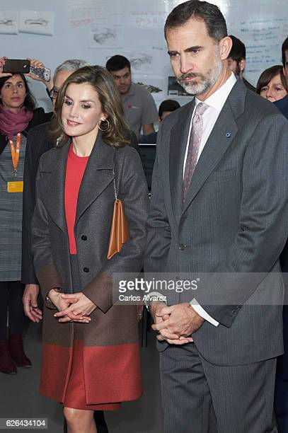 King Felipe of Spain and Queen Letizia of Spain visit the Science and Technology Park at the Porto University during their official visit to Portugal...