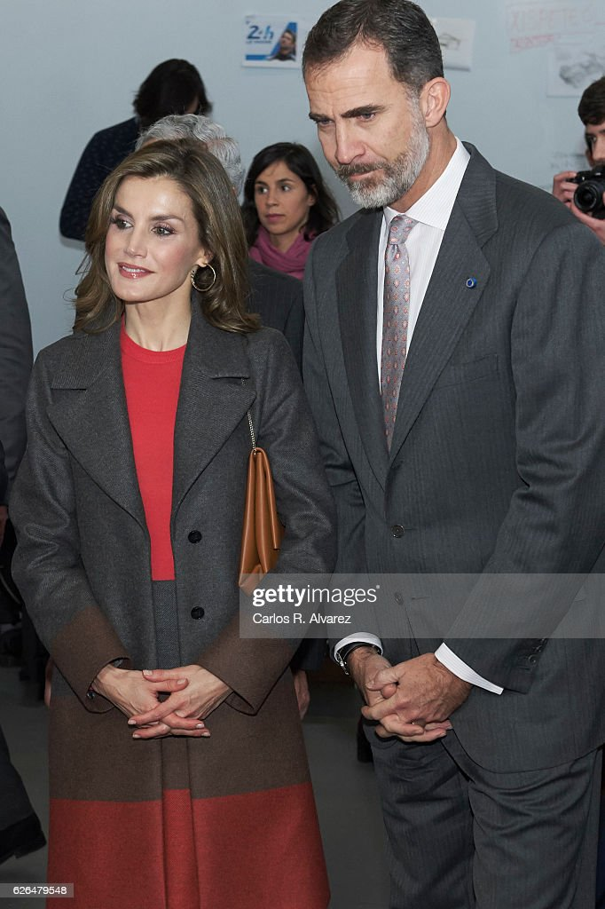 King Felipe of Spain and Queen Letizia of Spain visit the Science and Technology Park (UPTEC) at the Porto University during their official visit to Portugal on November 29, 2016 in Porto, Portugal.