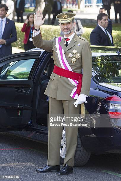 King Felipe of Spain attends the 2015 Armed Forces Day on June 6 2015 in Madrid Spain