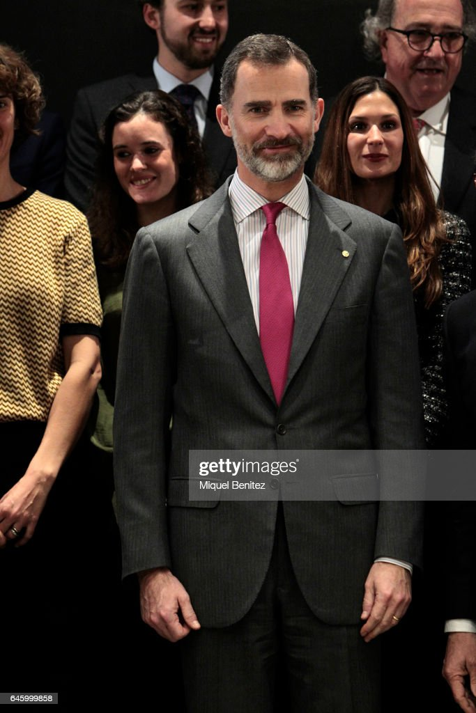 King Felipe of Spain attends the Centenary 1917-2017 lawyers company at the Cuatrecasas Headquarters on February 27, 2017 in Barcelona, Spain.