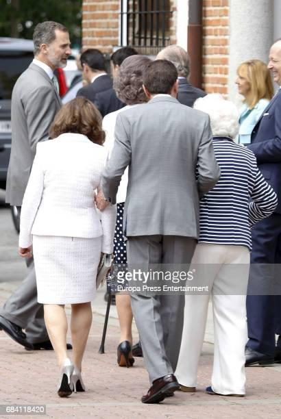King Felipe of Spain Queen Letizia's mother Paloma Rocasolano Queen Letizia's father Jesus Ortiz and Queen Letizia's grandmother Menchu Alvarez del...
