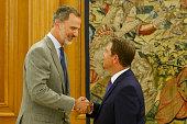ESP: King Felipe Of Spain Receives President Of Castilla La Mancha
