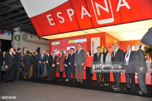 King Felipe of Spain Spanish Vice President Soraya Saenz de Santamaria Spanish Minister of Digital Agenda Alvaro Nadal Catalonian Regional Government...
