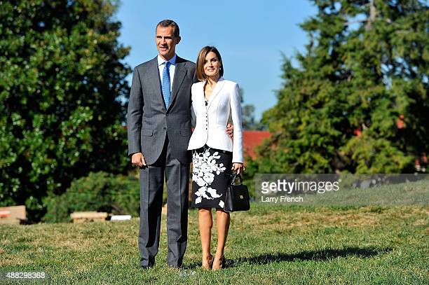 King Felipe VI and Queen Letizia Of Spain appear at George Washington's Mount Vernon on September 15 2015 in Mount Vernon Virginia