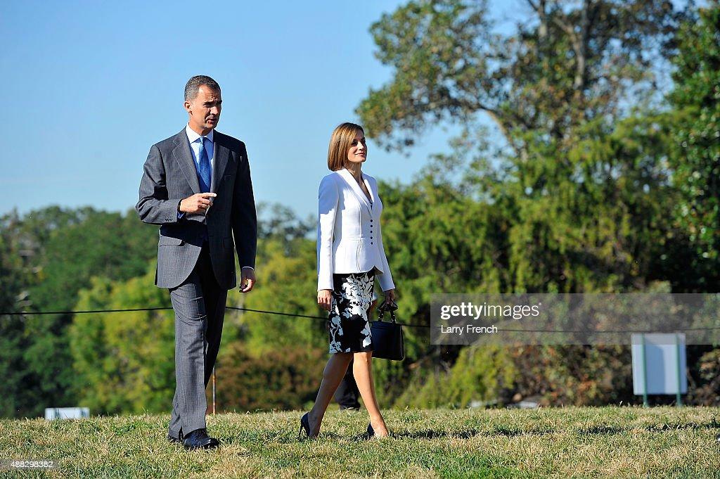King Felipe VI and Queen Letizia Of Spain appear at George Washington's Mount Vernon on September 15, 2015 in Mount Vernon, Virginia.