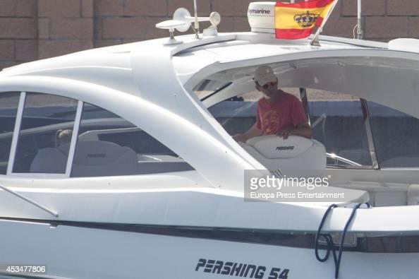 King Felipe VI of Spain and Princess Sofia of Spain are seen on August 10 2014 in Palma de Mallorca Spain