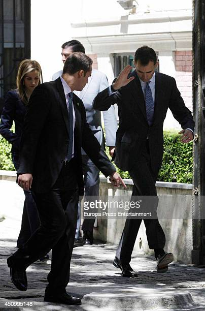 King Felipe VI of Spain and Queen Letizia of Spain attend a meeting with the victims of terrorism on their first official event since the King's...