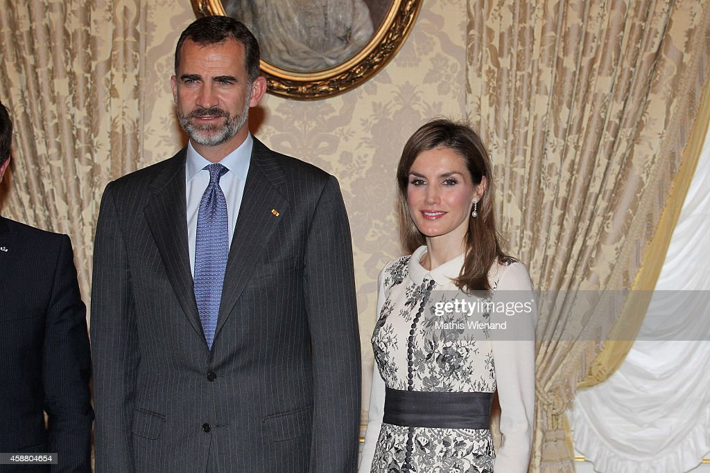 King Felipe VI Of Spain and Queen Letizia Of Spain attend a One Day Visit In Luxembourg on November 11, 2014 in Luxembourg, Luxembourg.