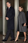 King Felipe VI of Spain and Queen Letizia of Spain attend 'In Memorian' concert at the National Auditorium on March 10 2016 in Madrid Spain