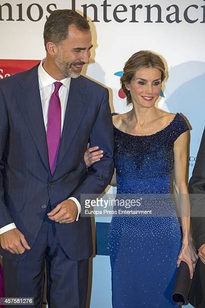 King Felipe VI of Spain and Queen Letizia of Spain attend International Journalism Award and the 25th Anniversary of 'El Mundo' newspaper at The...
