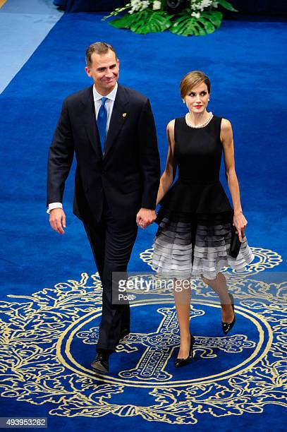 King Felipe VI of Spain and Queen Letizia of Spain attend Princesa de Asturias Awards 2015 on October 23 2015 in Oviedo Spain
