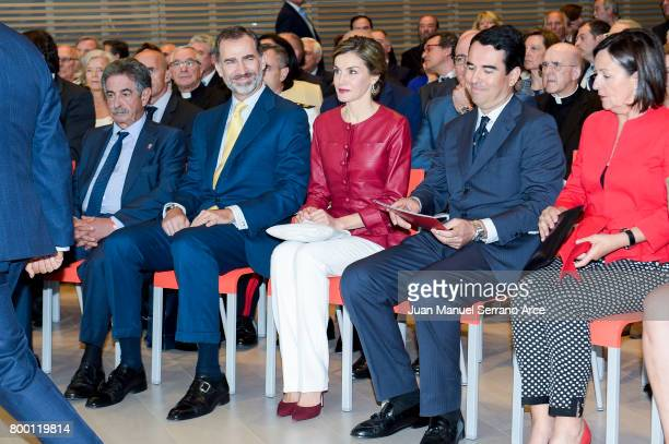 King Felipe VI of Spain and Queen Letizia of Spain attend the Inaugurate Botin Center on June 23 2017 in Santander Spain