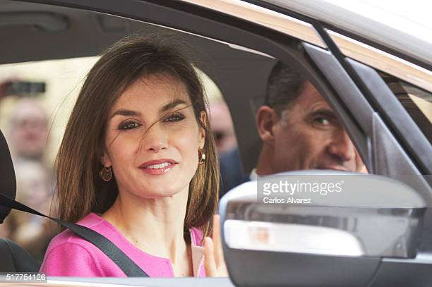 King Felipe VI of Spain and Queen Letizia of Spain attend the Easter Mass at the Cathedral of Palma de Mallorca on March 27 2016 in Palma de Mallorca...