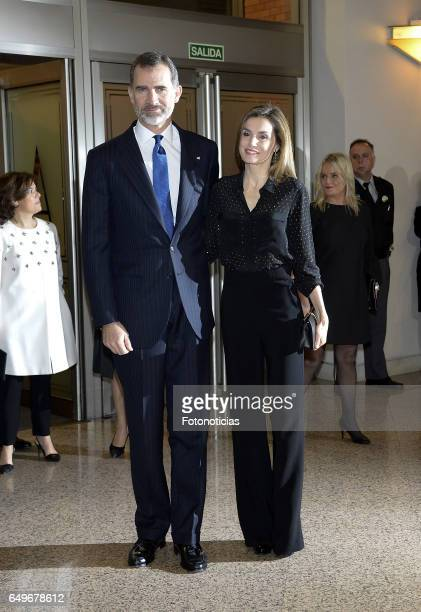King Felipe VI of Spain and Queen Letizia of Spain attend the 'In Memoriam' concert at the Auditorio Nacional de Musica on March 8 2017 in Madrid...