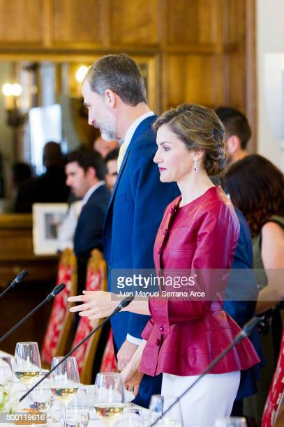 King Felipe VI of Spain and Queen Letizia of Spain attend the Join 'Coworking santander' Programme on June 23 2017 in Santander Spain