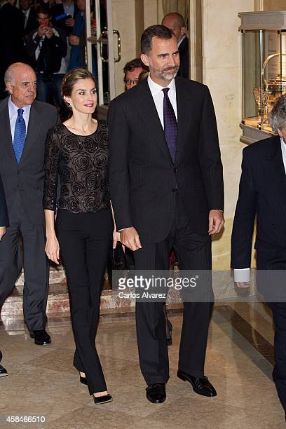 King Felipe VI of Spain and Queen Letizia of Spain attend the 'Francisco Cerecedo' journalism award 2014 ceremony at the Ritz Hotel on November 5...
