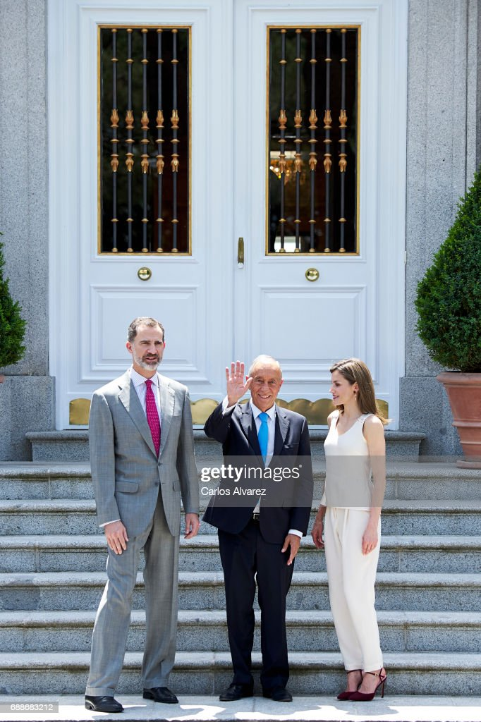 Spanish Royals Host an Official Lunch For Marcelo Rebelo De Sousa