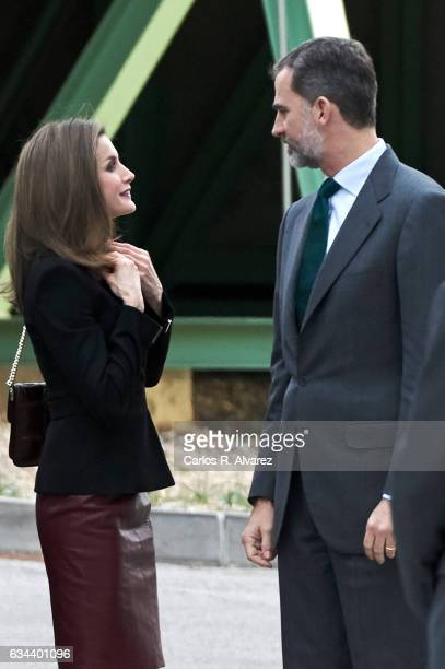 King Felipe VI of Spain and Queen Letizia of Spain visit CNIC on February 9 2017 in Madrid Spain