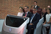 King Felipe VI of Spain and Queen Letizia of Spain visit Volkswagen Factory on Its 50th anniversary on June 29 2016 in Navarra Spain