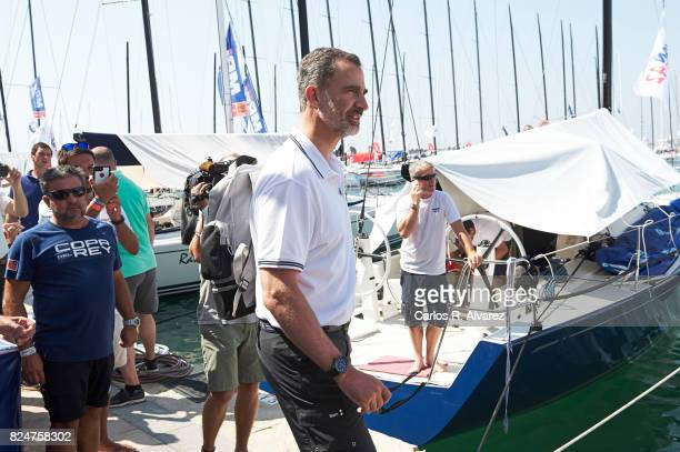 King Felipe VI of Spain arrives at the Royal Nautic Club during the 36th Copa Del Rey Mapfre Sailing Cup on July 31 2017 in Palma de Mallorca Spain