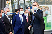 King Felipe Of Spain Arrives At The Inauguration the...