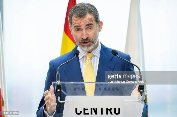 King Felipe VI of Spain attend the Inaugurate Botin Center on June 23 2017 in Santander Spain