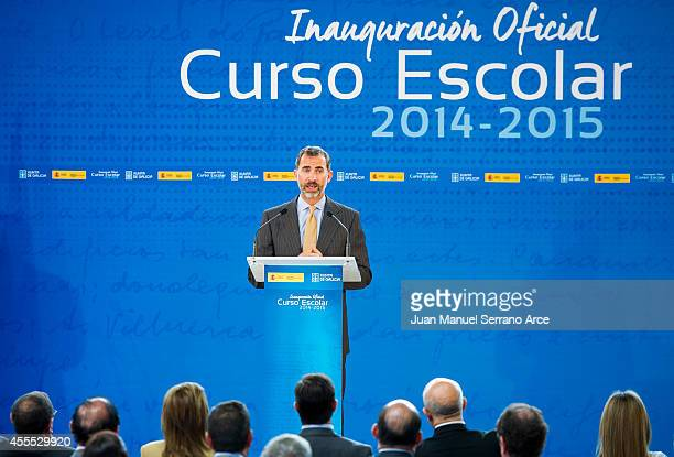 King Felipe VI of Spain Attend the Opening of the School Courses on September 16 2014 in Orense Spain