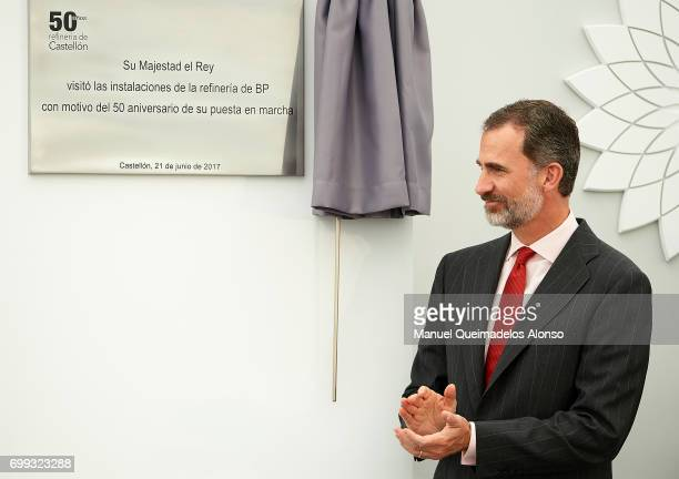 King Felipe VI of Spain attends 50th Anniversary Of BP Refinery at Castellon BP Refinery on June 21 2017 in Castellon Spain