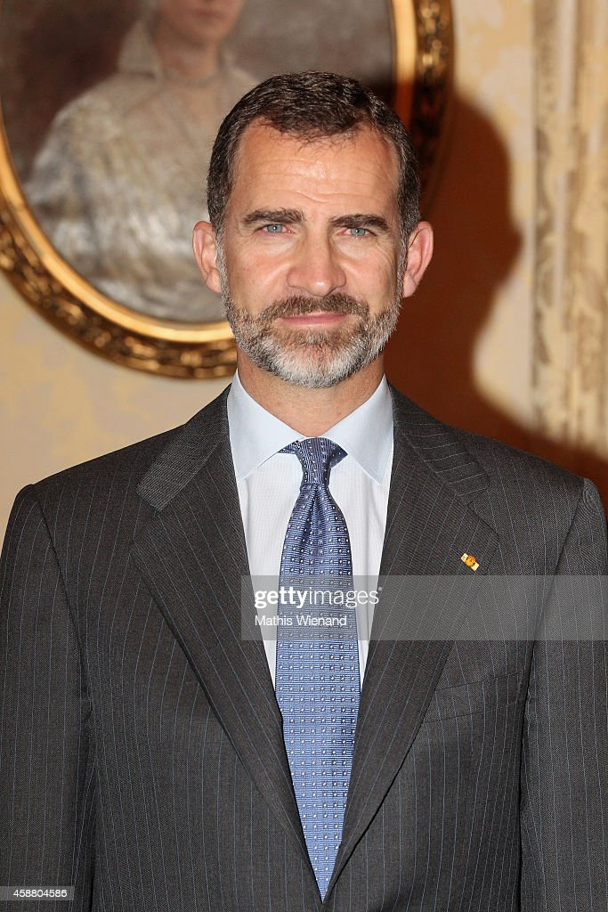 King Felipe VI Of Spain attends A One Day Visit In Luxembourg on November 11, 2014 in Luxembourg, Luxembourg.