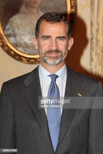 King Felipe VI Of Spain attends A One Day Visit In Luxembourg on November 11 2014 in Luxembourg Luxembourg