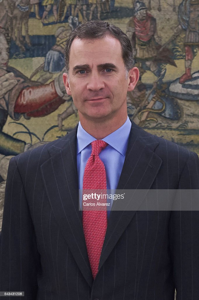 King <a gi-track='captionPersonalityLinkClicked' href=/galleries/search?phrase=Felipe+VI+of+Spain&family=editorial&specificpeople=4881076 ng-click='$event.stopPropagation()'>Felipe VI of Spain</a> attends several audiences at Zarzuela Palace on June 28, 2016 in Madrid, Spain.