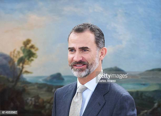 King Felipe VI of Spain attends several audiences at Zarzuela Palace on October 14 2016 in Madrid Spain