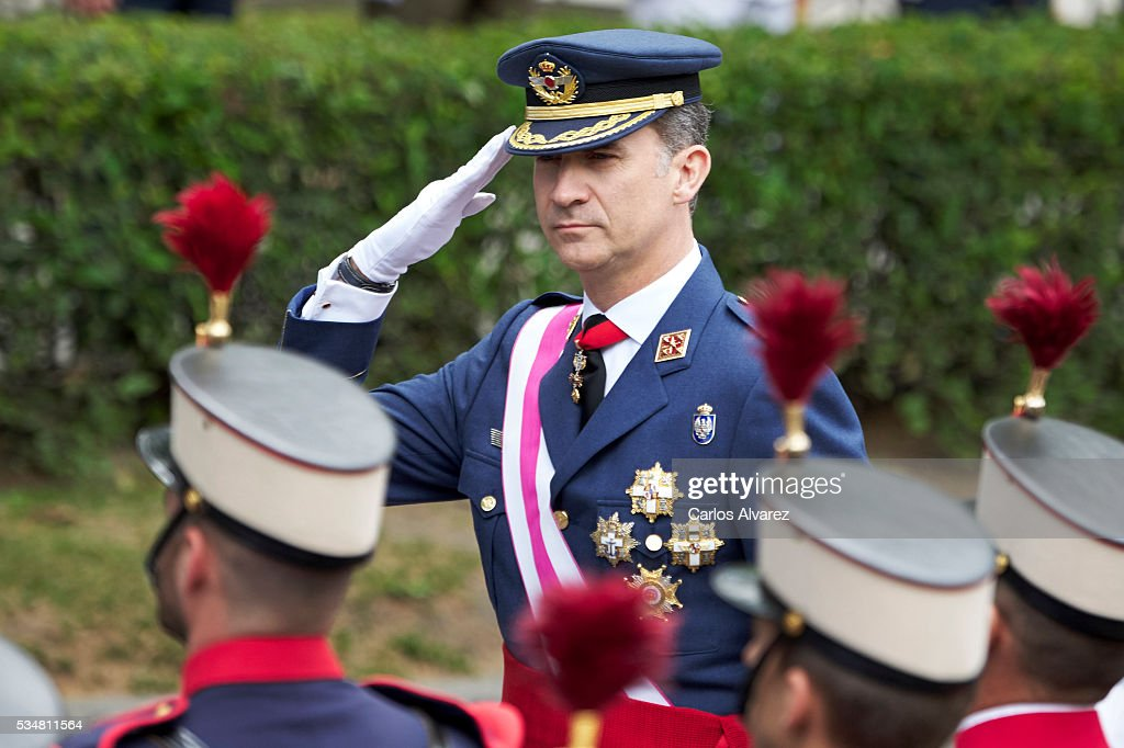 King Felipe VI of Spain attends the Armed Forces Day Hommage on May 28, 2016 in Madrid, Spain.