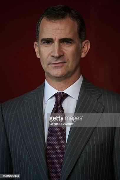 King Felipe VI of Spain attends the CEPYME 2015 Awards at the Reina Sofia Museum on November 4 2015 in Madrid Spain