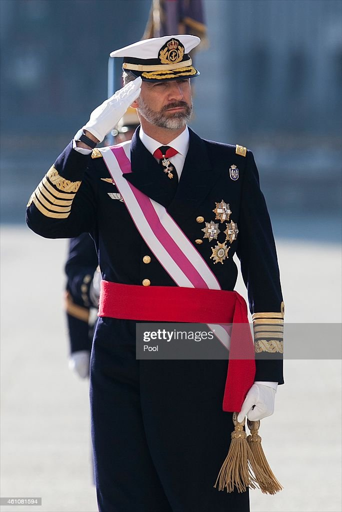 King Felipe VI of Spain attends the Pascua Militar ceremony at the Royal Palace on January 6 2015 in Madrid Spain
